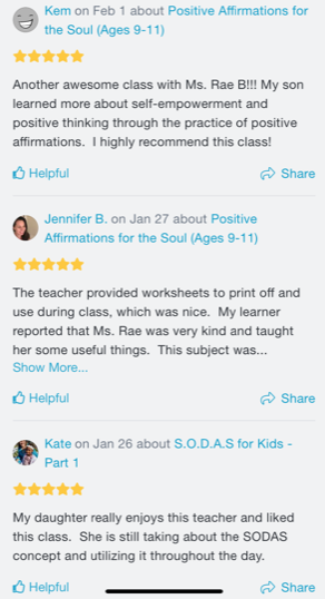 Outschool Parent Review