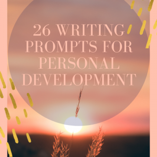 26 writing prompts for personal development ebook Pin